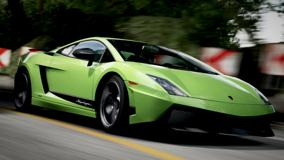 Running Lamborghini Gallardo In Forza Motorsport 4 In Green